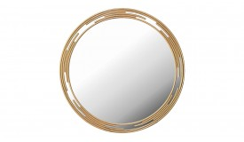 Miroir contemporain design en métal doré - Rosa
