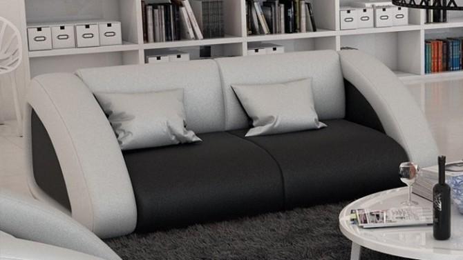 Canapé cuir 2 places design - Brooks