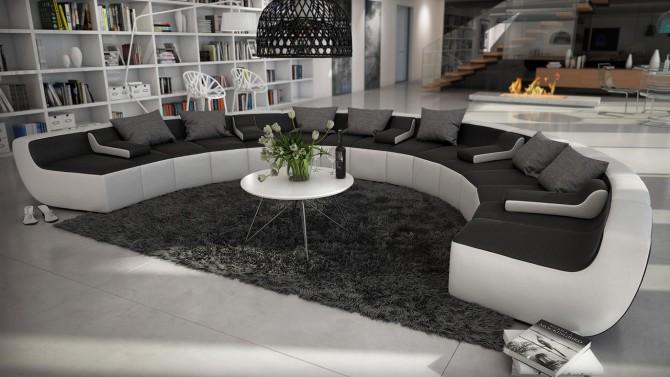 Canapé design panoramique en cuir - Keizer