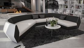 Canapé d'angle simili cuir panoramique - Bram