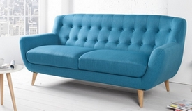 Canapé design 3 places scandinave tissu - Sverker