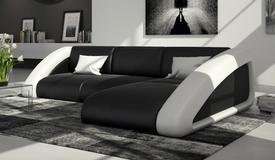 Canapé d'angle design en cuir - Hays