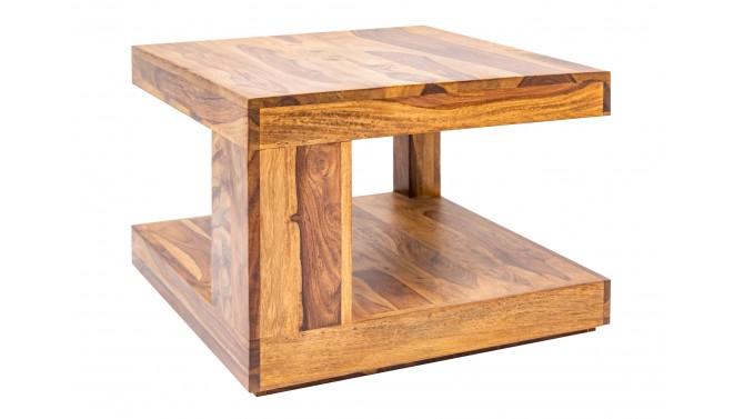 Table de salon carrée bois de palissandre - Noa