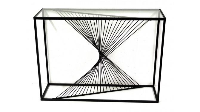 Console design en métal noir et verre - Iria