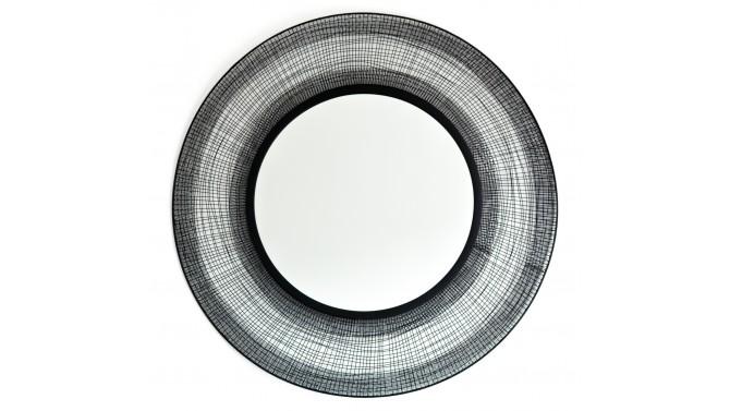 Miroir rond métal noir design - Ivar