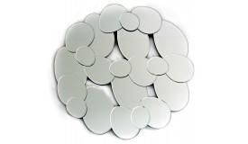 Miroir design multifacettes galets - Straw