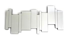 Grand miroir moderne multifacettes - Curtis