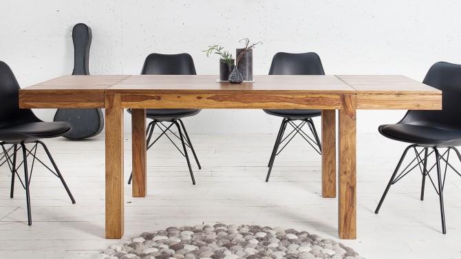Table à dîner bois extensible avec allonges - Tito