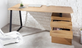 Bureau contemporain bois et métal - Renato