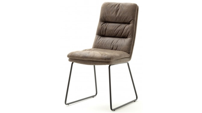 Chaise matelassée moderne en tissu - Joshua
