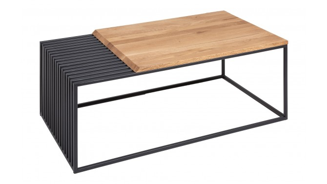 Table basse en métal et bois design - Craig
