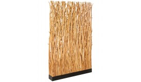 Lampadaire paravent moderne en bois - Bari