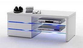 Meuble TV moderne 3 tiroirs avec LED - Orlando