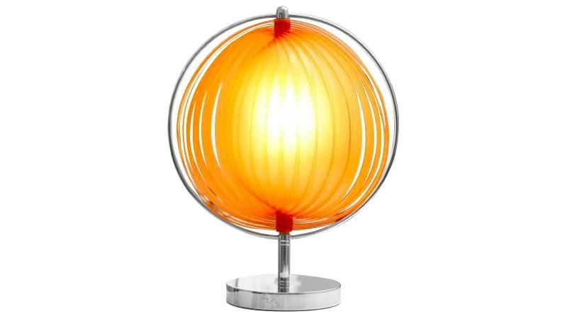 lampe de table ronde moon jr dot e de lamelles modulables gdegdesign. Black Bedroom Furniture Sets. Home Design Ideas