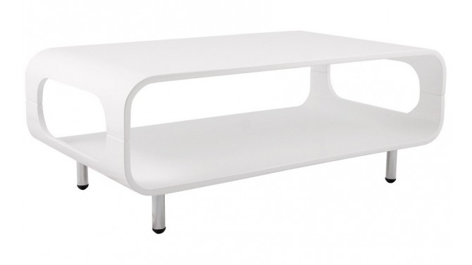 Table basse moderne laquée blanche - Lusk