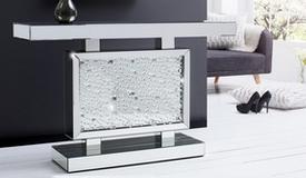 Console design miroir avec strass - Ottawa