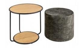 Table d'appoint avec pouf intégré - Prateek