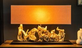 Lampe design à poser authentique en bois - Medford