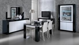 Salle à manger bicolore noire et blanche - Varsovie