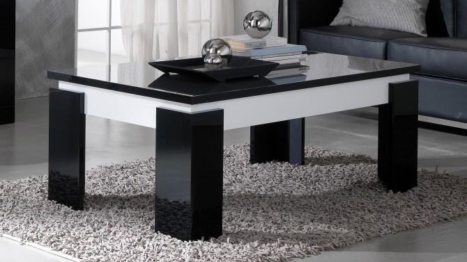 Table basse bicolore noire et blanche - Varsovie