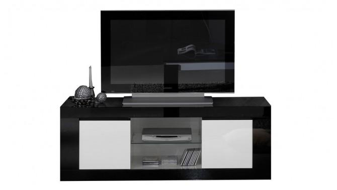 Meuble TV 2 portes avec étagères - Varsovie