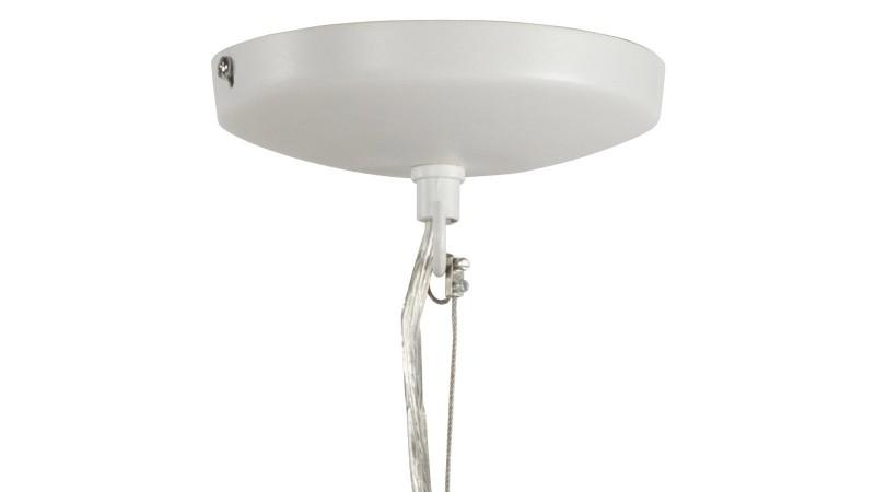 Lustre suspendre phency en m tal peint noir ou blanc for Lampe exterieur a suspendre