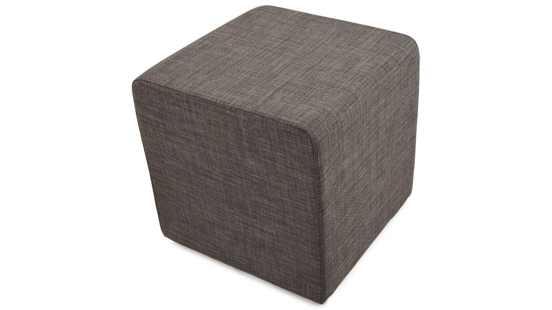 pouf d 39 appoint tendance tr vor en tissu tram gris fonc gdegdesign. Black Bedroom Furniture Sets. Home Design Ideas