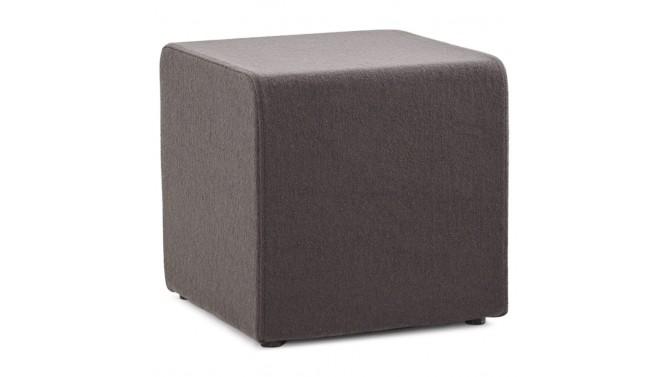 pouf de salon design en tissu gris fonc oliver gdegdesign. Black Bedroom Furniture Sets. Home Design Ideas