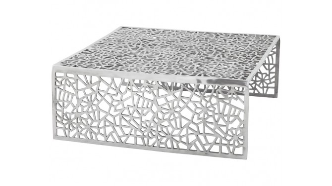 Table basse design en aluminium poli - Clive