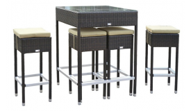 Ensemble de jardin, 4 tabourets + table haute Mesa - GdeGdesign