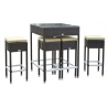 Table haute de jardin + 4 tabourets de bar - Mesa