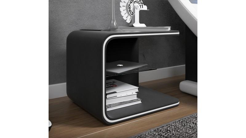 Chevet Design Lumineux A Leds En Simili Cuir Gdegdesign