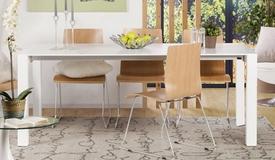 Table à manger design blanche extensible - Alta
