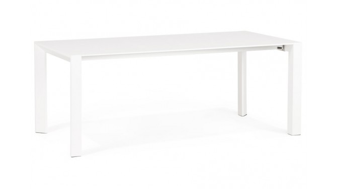 Table à manger design blanche extensible - Alta