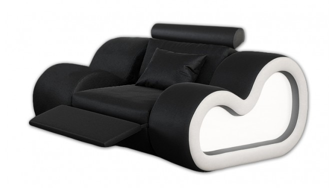 Fauteuil lumineux relax en cuir - Atco
