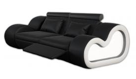 Canapé 2 places design lumineux en cuir - Atco