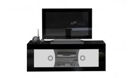 Meuble TV 2 portes avec rangement - Nevis