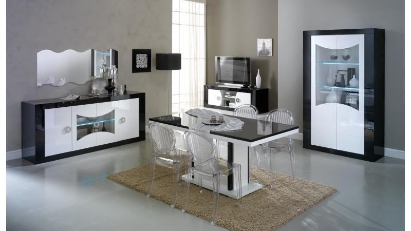 Meuble Tv Moderne  Portes Noir Et Blanc Nevis  Gdegdesign
