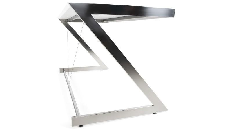 Bureau fixe design rectangulaire 150 cm blanc konner for Bureau en bois blanc