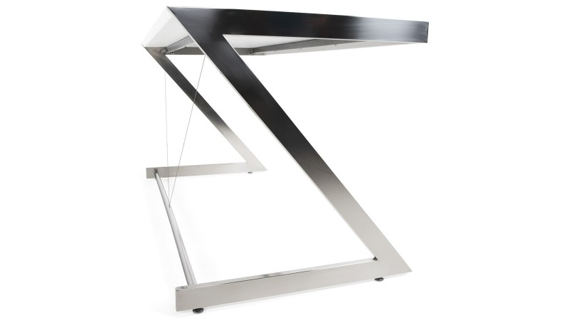 bureau fixe design rectangulaire 150 cm blanc konner gdegdesign. Black Bedroom Furniture Sets. Home Design Ideas
