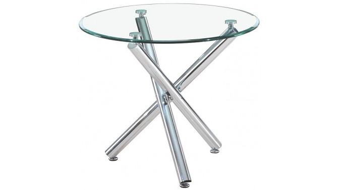 Table ronde manger en verre tremp alex sur pieds for Table a manger ronde en verre