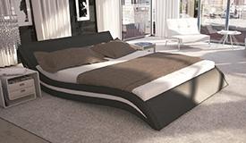 Lit design noir et blanc 160x200 cm - Laren