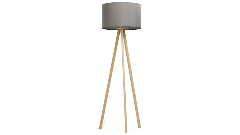 lampadaire scandinave design tripod avec abat jour makar gdegdesign. Black Bedroom Furniture Sets. Home Design Ideas
