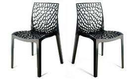 Chaise design anthracite polypropylène - Eva