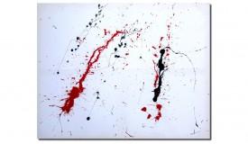 Tableau tendance tacheté rouge et noir - Beverly