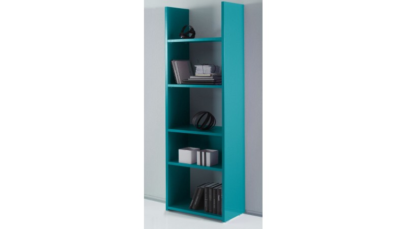 Bibliothèque Mirko, en bois 6 couleurs avec grands casiers - GdeGdesign