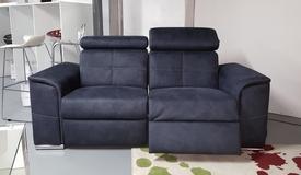 Canapé 2 places tissu bleu électrique - Andrew