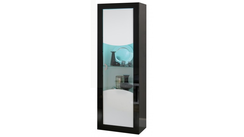 vitrine lumineuse de rangement design avec led nevis gdegdesign. Black Bedroom Furniture Sets. Home Design Ideas