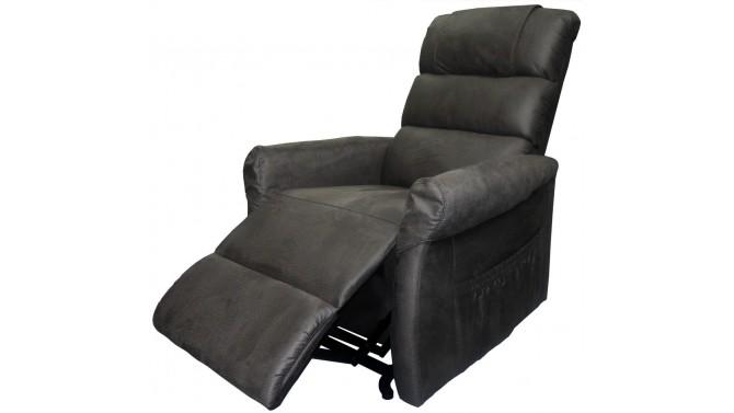 fauteuil de relaxation releveur lectrique theo en tissu nubuck gdegdesign. Black Bedroom Furniture Sets. Home Design Ideas