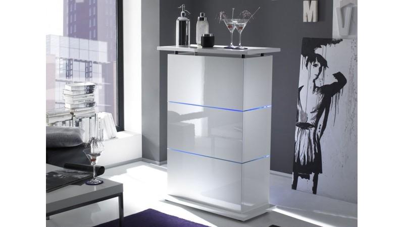 bar design blanc lumineux leds reece avec tag res gdegdesign. Black Bedroom Furniture Sets. Home Design Ideas